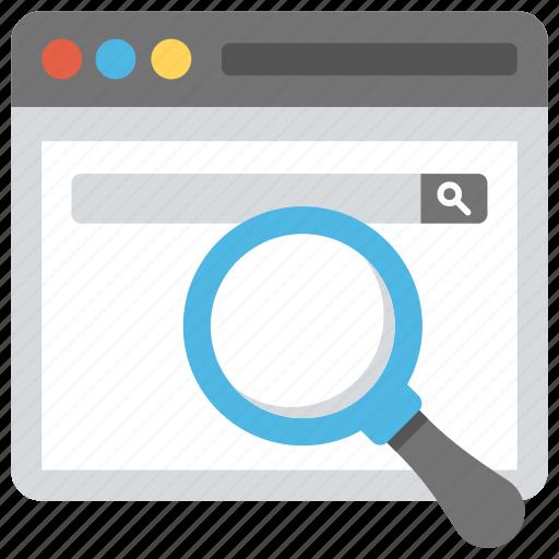 internet search, internet search engine, web search, web search engine, web surfing icon
