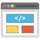 html, php, programming, source code, web development icon