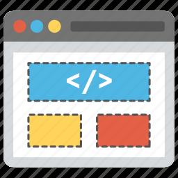 html, php, programming, source code, web development icon