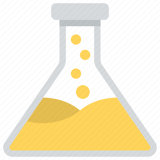 chemical flask, conical flask, erlenmeyer flask, laboratory equipment, laboratory flask icon