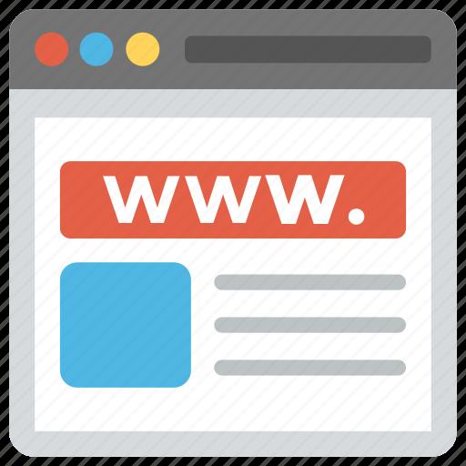 internet browser, internet site, site, website, www icon