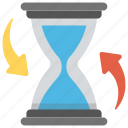 cycle time, process time, scheduling, time management, time settings icon