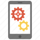 mobile engineering, mobile screen gears, mobile settings, mobile software engineering, mobile technology icon