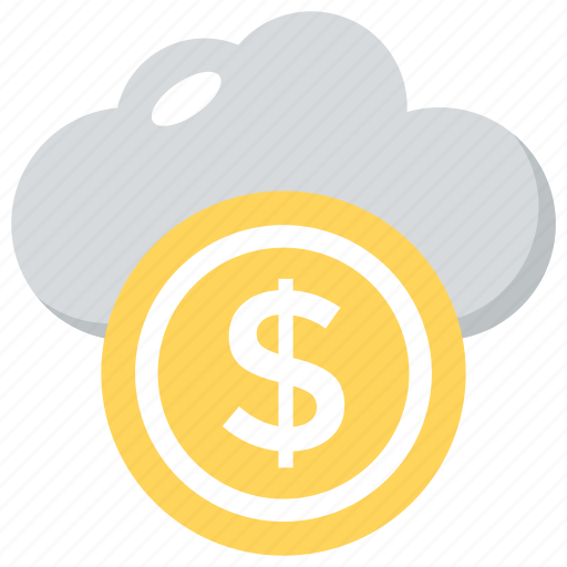 cloud business, cloud dollar, ebanking concept, online banking, wireless banking icon