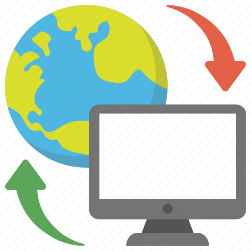 communication technology, computer technology, information technology, internet development, internet technology icon