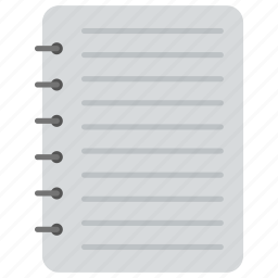 jotter, notebook, notepad, scratch pad, text editor icon