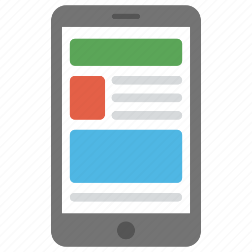 android wireframe, mobile design, mobile layout, mobile ui, mobile wireframe icon