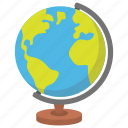 geography, globe, map, school supplies, table globe icon