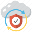 information security, network integration, network protection, network security, web security cloud icon