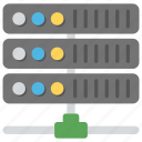 computer server, data center, database, network server, server rack icon