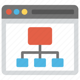 site flowchart, site structure, sitemap, website map, wireframe, xml file icon