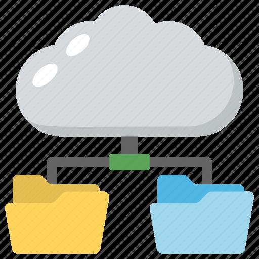 cloud data network, cloud services, cloud storage, digital data, online data storage icon