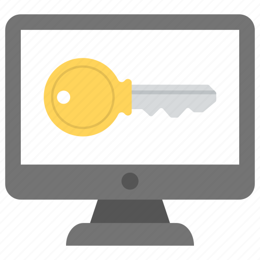 computer password, cyber security, sitelock, web security, website protection icon