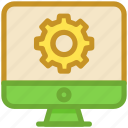 cog, gear, monitor, monitor setting, seo services icon