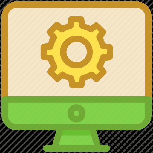 cog, gear, monitor, monitor setting, seo services icon