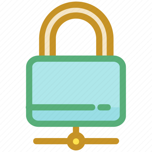 digital security, network security, networking, padlock, security concept icon