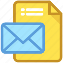 communication, email, emailing, netmail, open mail icon