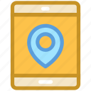 location tracker, mobile, mobile gps, mobile navigation, smartphone icon