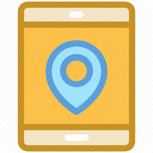 location tracker, mobile, mobile gps, mobile navigation, smartphone icon