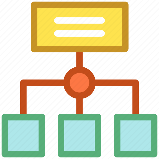 chart, hierarchy, networking, structure, topology icon