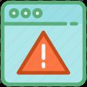 warning, web alert, web error, webpage, webpage error