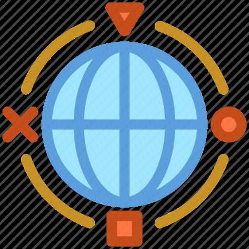 communication, globe, international, planet, worldwide icon
