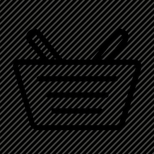 basket, design, shopping, vector icon