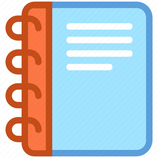 agenda, diary, memo, notebook, notepad icon