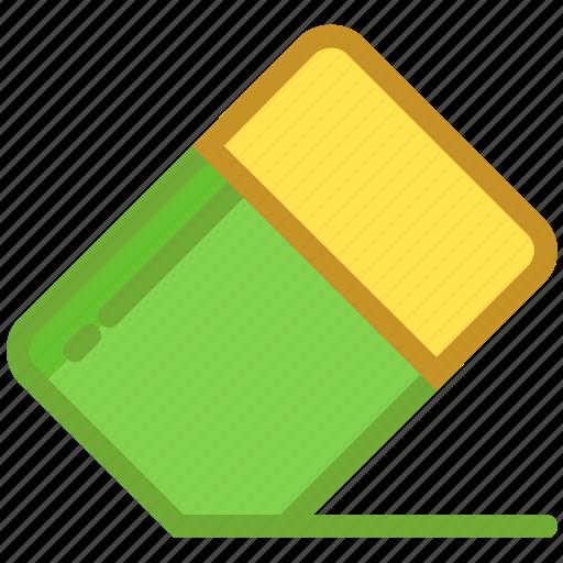 eraser, office supply, remove, rubber, school supply icon
