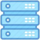 database, hosting, mainframe, networking, server rack icon