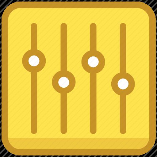 adjuster, equalizer, music volume, volume adjuster, volume controller icon