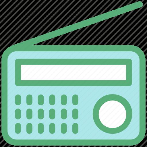 broadcast, radio, radio set, transistor, transmitter icon