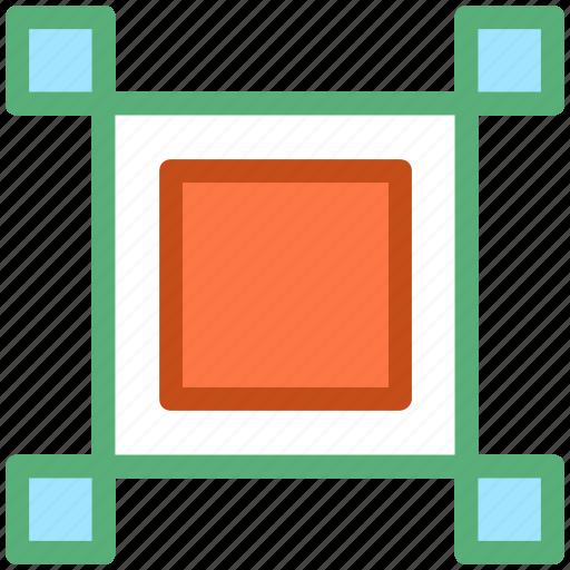 computer graphics, design element, selection square, square, square shape icon