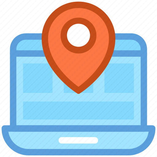 cartography, destination, digital devices, online gps, online navigation icon
