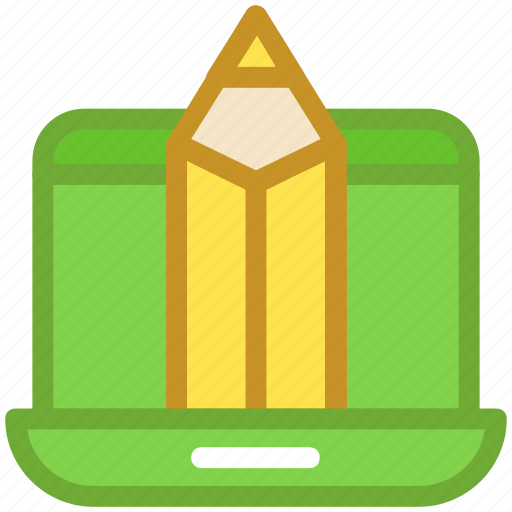content writing, pencil, programming, web developing, website icon