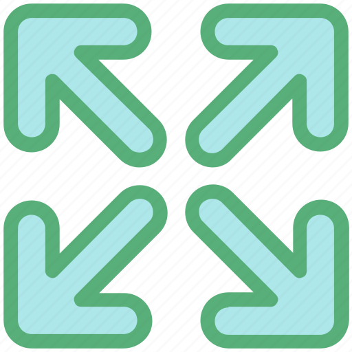 enlarge, expand, extend, increase size, stretch icon