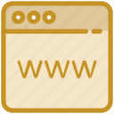cyberspace, internet browser, internet site, website, www icon