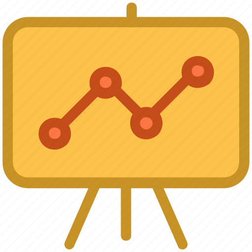 business analysis, chart, presentation, projection screen, statistics icon