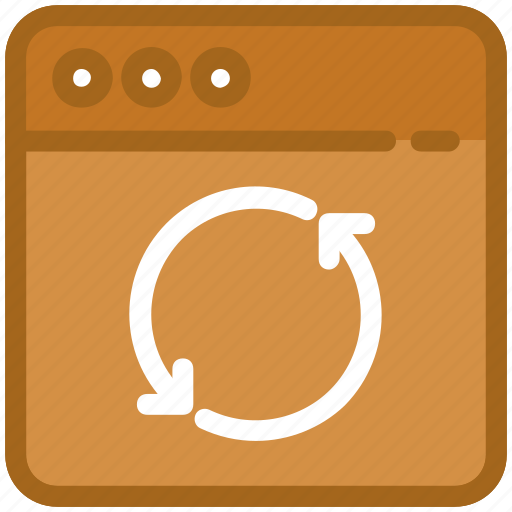 programming, reload page, sync, web development, web synchronization icon