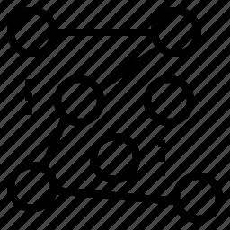 chart, node, path, random icon