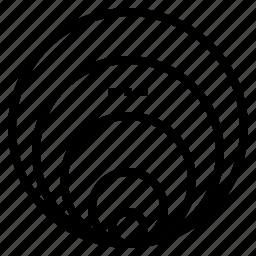 circle, hole, loop, size icon