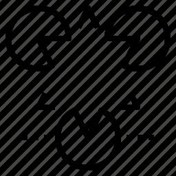 design, illusion, triangle, web, whitespace icon