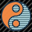 balance, chinese, contrast, yang, yin icon