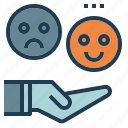customer, feedback, happy, user icon