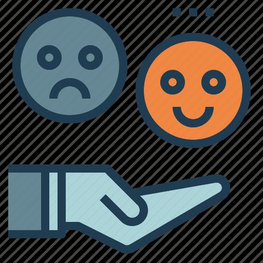 customer, feedback, happy, user icon