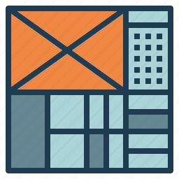 design, grid, layout, web, website icon