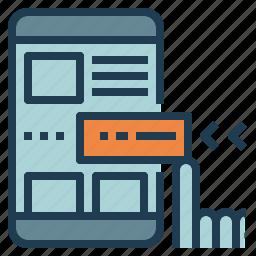 design, extension, mobile, module, web icon