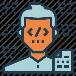 coding, developer, programmer, support, web icon