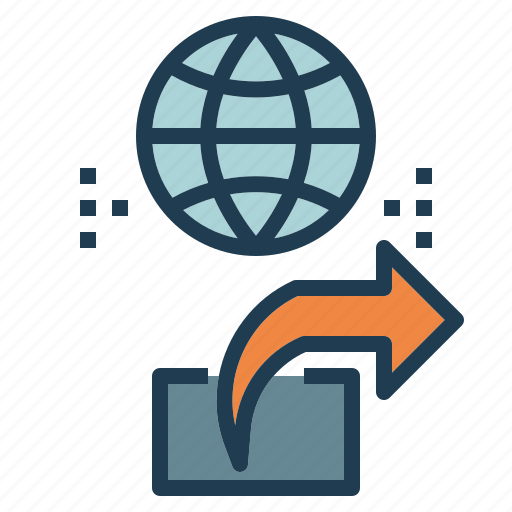 content, global, online, share icon