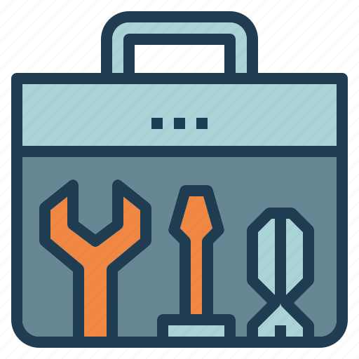 fix, setting, technician, toolbox, wrench icon